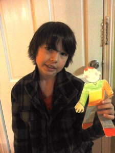 My handsome nephew Jake & his awesome Flat Stanley