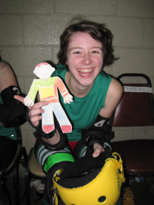 Flat Stanley at the roller derby