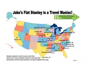 Flat Stanley Adventure Map