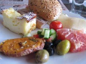 Mediterranean breakfast in Israel