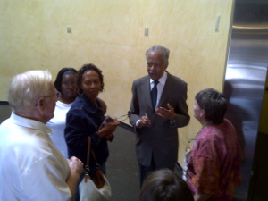 Rev Kyles talks with the Galushas & others