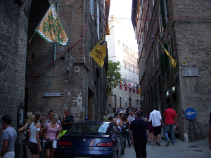 Siena streets ready for the race