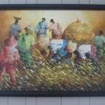 Rice harvest original painting I bought in the Philippines