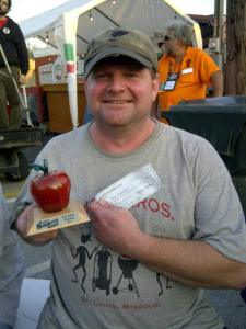 Todd winning second place in BBQ