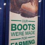 these boots were made for farming
