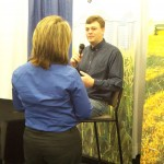 Holly Martin interviewing Jay Lynch