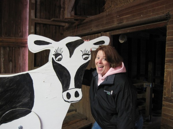 That's me Janice Person in Dairy Discovery