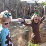 watching the monkeys (our girls can be monkeys!)