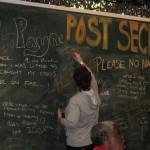 Georgia shares a secret on the Post secrets board