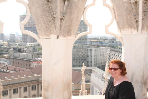 Me on the Milan Duomo rooftop