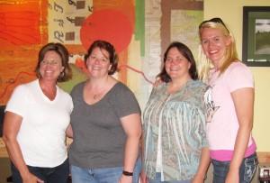 Debbie Lyons-Blythe with me, Val Wagner & Katie Pinke
