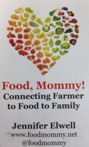 food mommy business card