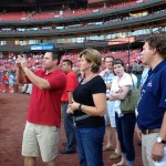 excited to be on the field at Busch Stadium