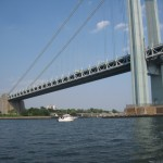 The Verrano Narrows Bridge that connects Brooklyn & Staten Island