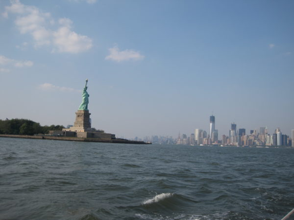 Lady Liberty & the Manhattan Skyline