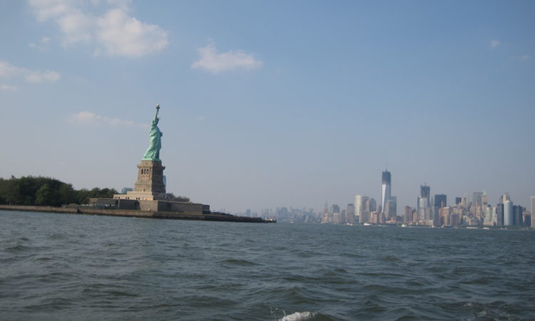 Lady Liberty & the Manhattan Skyline