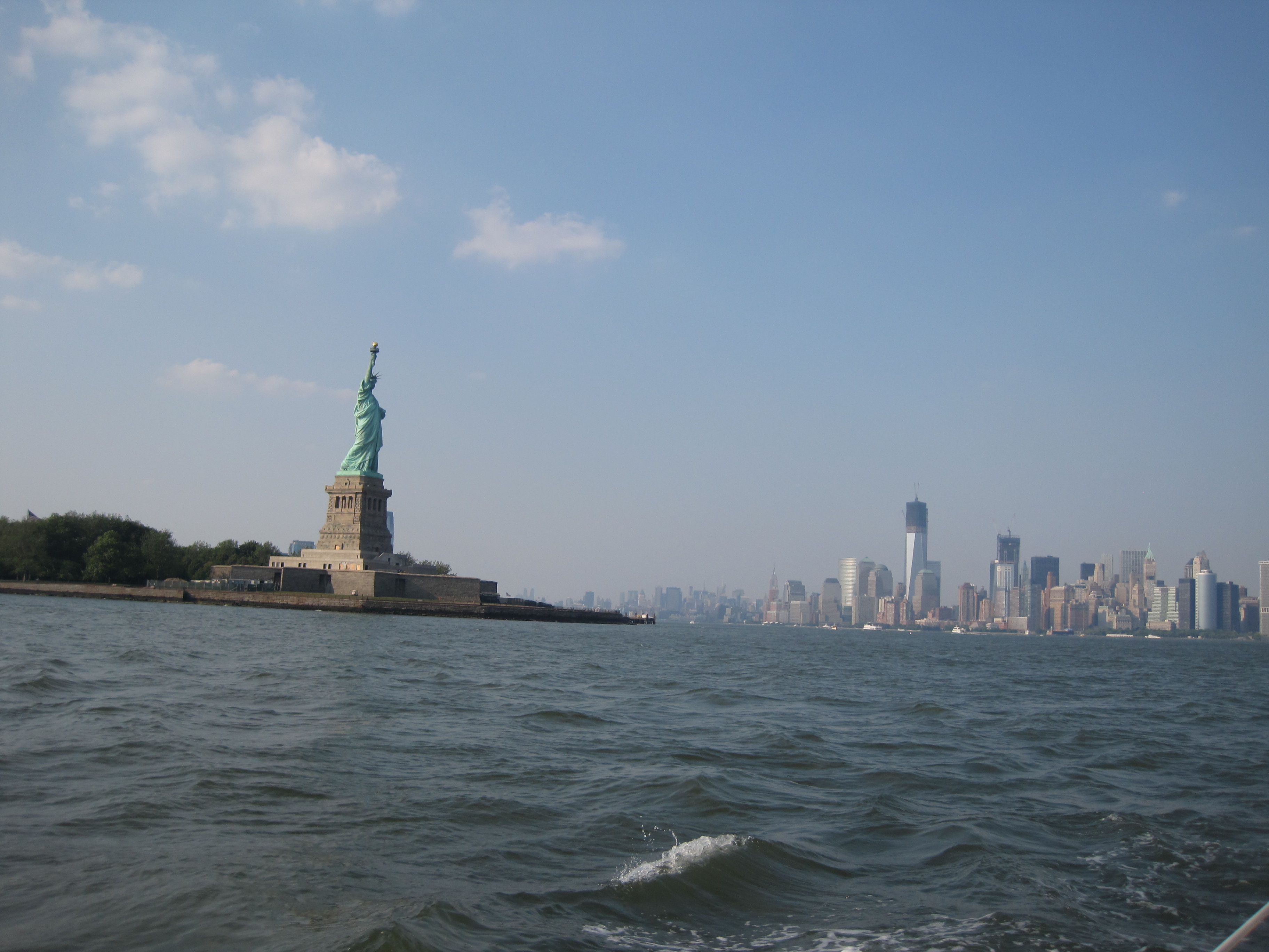 Manhattan Skyline And The Statue Of Liberty From The Water Jp Loves Life