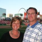 Debbie Lyons-Blythe & Duane Blythe at the Cardinals game