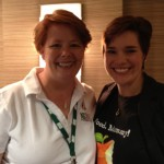 Jennifer @FoodMommy Elwell in her Food Mommy shirt :) & me