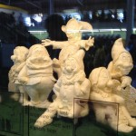 the seven dwarfs butter sculpture
