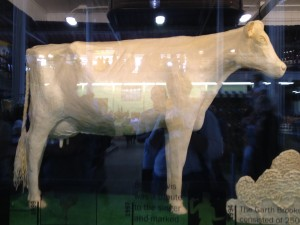 the Iowa State Fair butter cow sculpture