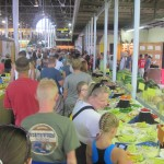 the long line for the butter cow at the Iowa State Fair