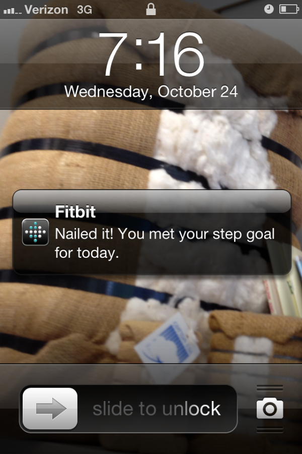 fitbit notification on iPhone