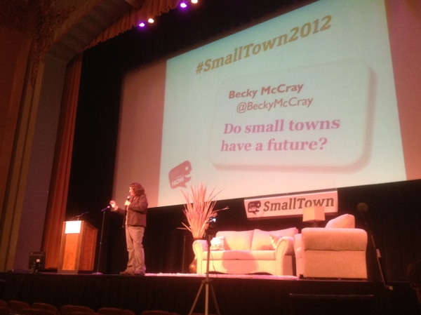 Becky McCray speaking at SmallTown2012