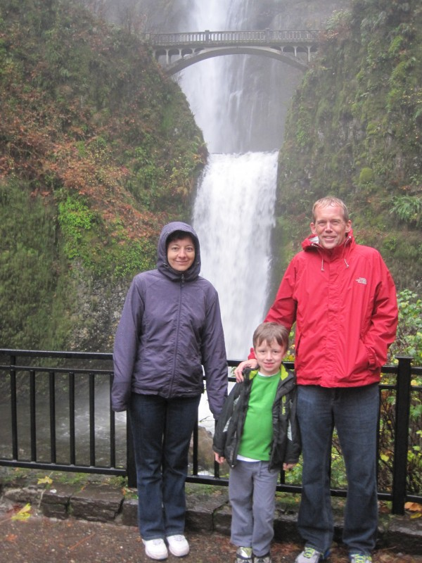 Picture of friends at Multnomah Falls, Portland, OR