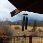 windchimes overlooking the pasture