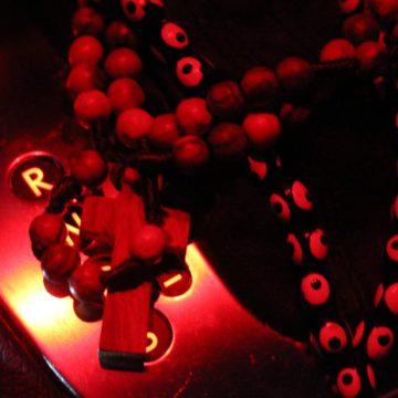 olive wood rosary & the evil eye