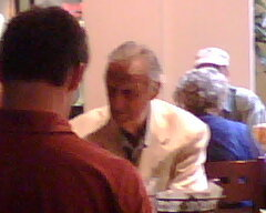A restaurant snap of Musial in 2008