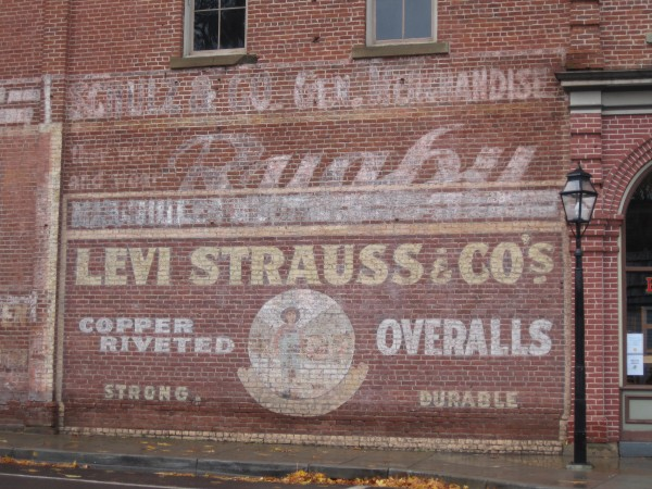 Levi Strauss old west ad