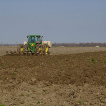 tractor getting ready to plant