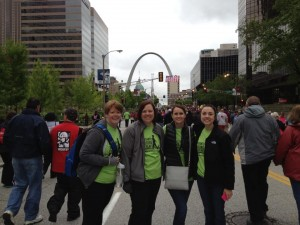 Heart Walk with friends