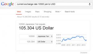 convert yen to dollars