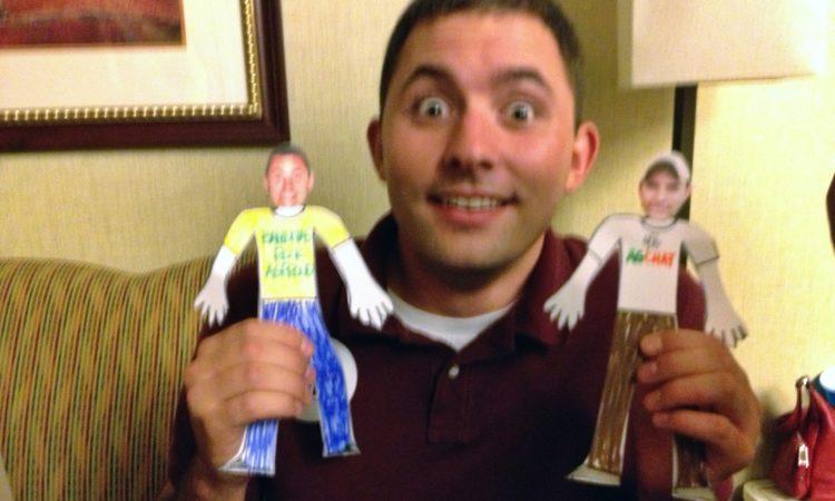 Ryan Goodman & his paperdoll versions ie Flat Ryans