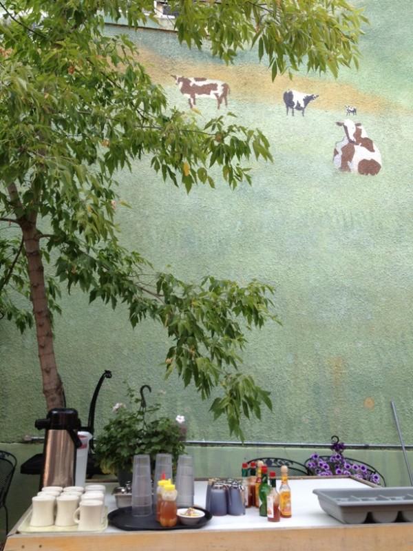 Bozeman Montana cafe patio