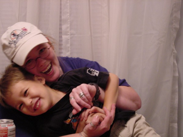 Tickling my nephew!