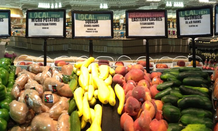 farm fresh vegetables grown locally