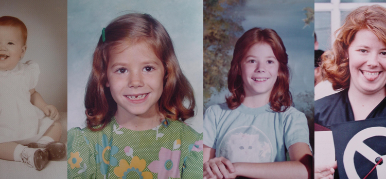 My red hair through the years