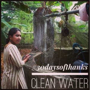 Thankful for clean water