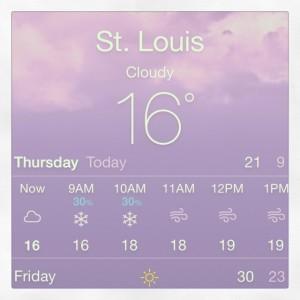 So cold I'm freezing!