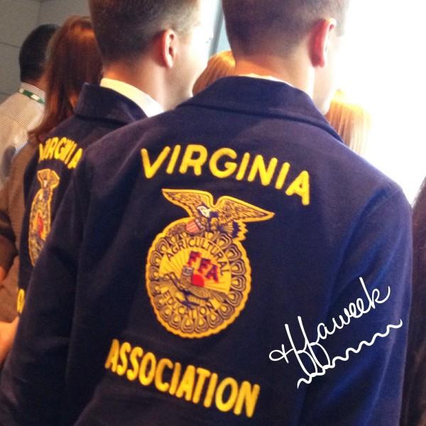 Virginia FFA students