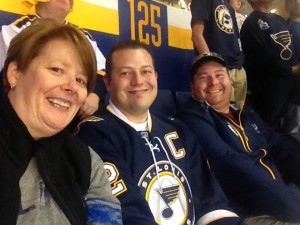 Enjoying an STL Blues game