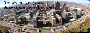 view from the St. Louis Arch -- St. Louis A to Z