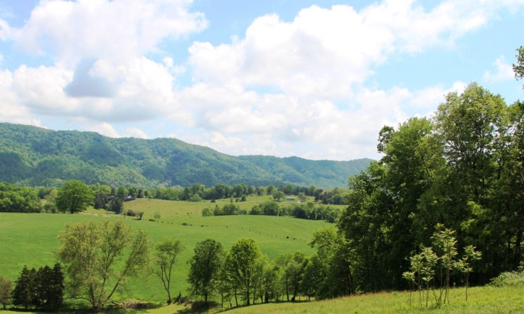 farm in Appalachian Mountains