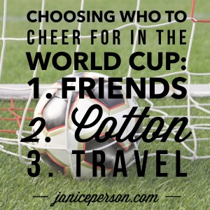 Choosing a world cup team