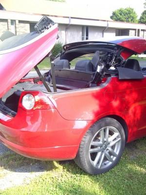 broken convertible top