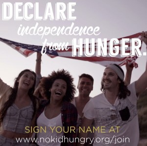 decalre independence from hunger
